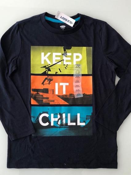 Camiseta Infantil Old Navy 100% Original Importada 8 Anos -