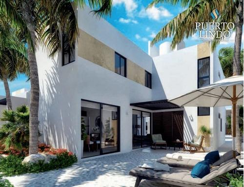 Imagen 1 de 16 de Casas En Venta, En Residencial Puerto Lindo Chelem Mod.  Aurora.
