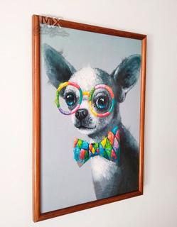 Cuadro Decorativo Chihuahua Lente Colores Textura X1066