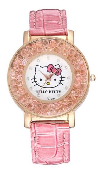 Relógio Feminino Hello Kitty Infantil Adulto Alta Qualidade