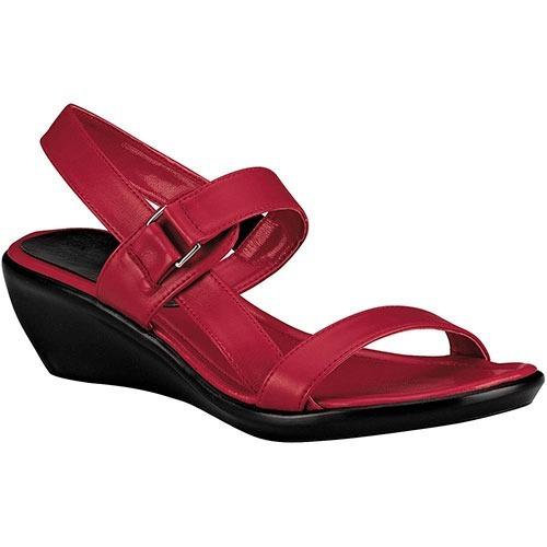 Zapato Abierto Vestir Tacon Pravia Dama 5c Rojo Dtt T70312