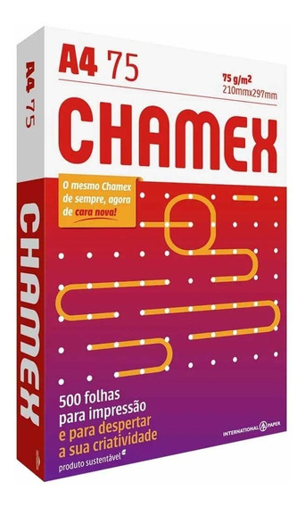 Papel Sulfite A4 Chamex Office 500 Folhas