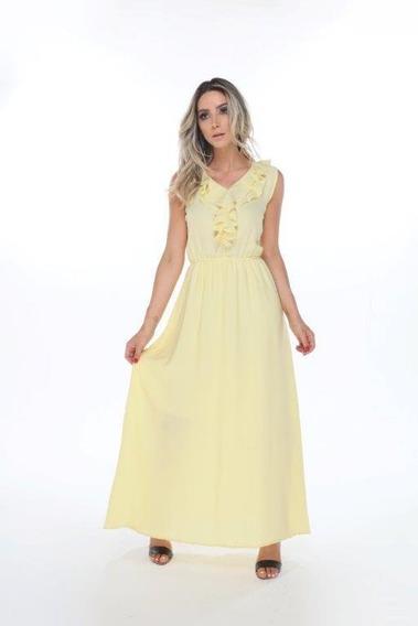 Vestido Longo Dress Moda Evangelica Verão Blogueira Festa