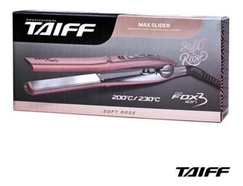 Taiff Fox Íon 3 Chapa Capilar Rose Bivolt