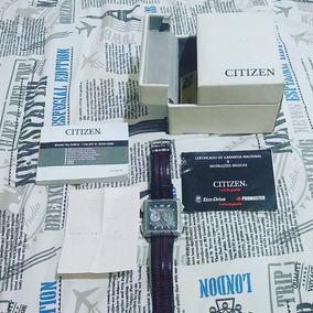 Relogio Citizen Eco Drive Promaster Quadrado W.r. 10bar