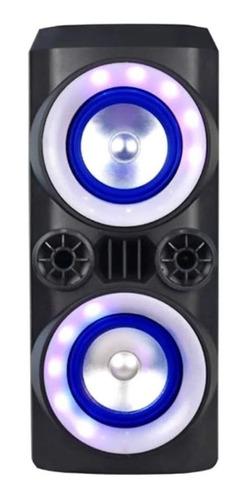 Alto-falante Multilaser Neon X portátil com bluetooth preto 110V/220V