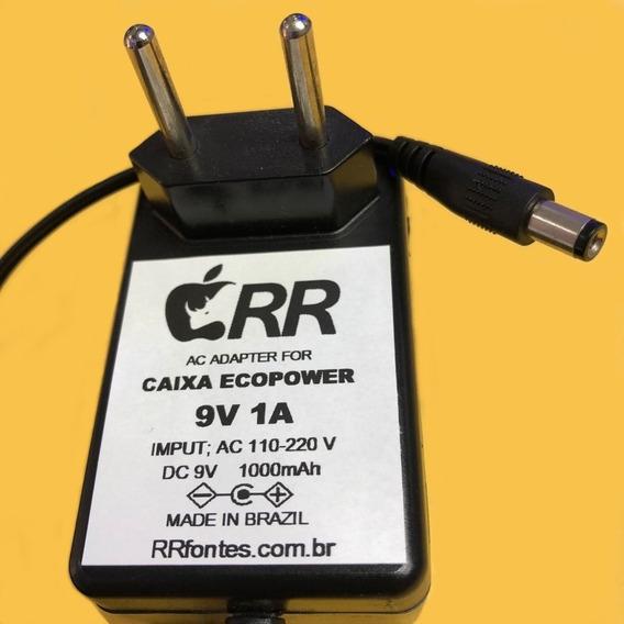 Fonte Carregador 9v Para Caixa Amplificada Ecopower Todas 9v