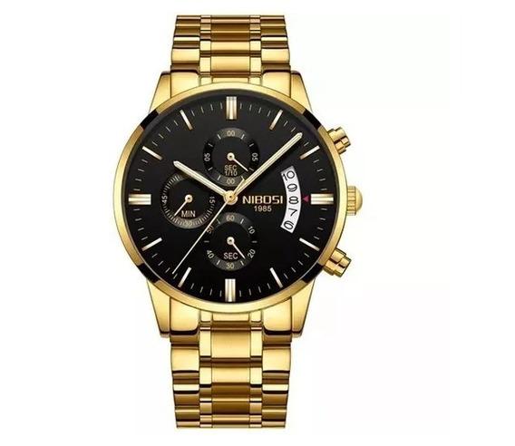 Relógio Nibosi Masculino De Luxo Todo Funcional Original