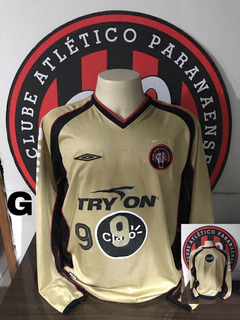 Camisa Atlético Paranaense Cap Atlhetico Dourada Manga Longa