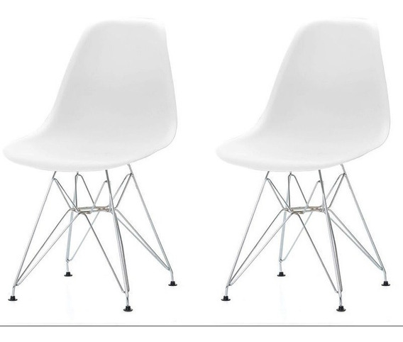 Silla Eames Pata Metálica Pack 2 - By Arei Design!!
