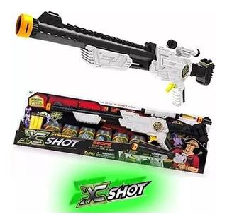 Scope Rifle Escopeta Lanza Dardos A 24 Metros Pistola X Shot
