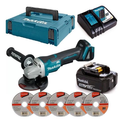 Esmerilhadeira Dga504 + Bateria 5ah + Carregador + 5 Discos