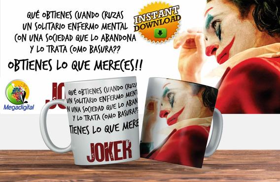 Plantillas Tazas Guason Joker Descarga