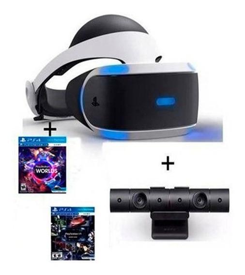 Casco Realidad Virtual Sony Ps4 Vr +camara+2 Juegos Nuevo Modelo V2!!