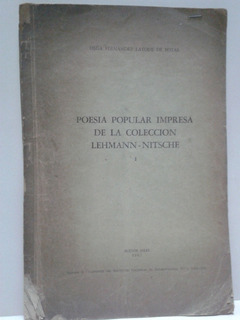 Poesia Popular Impresa * Lehmann - Nitsche ** Firmado Autor