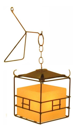 Pagode Chinês Com Luminária Vela Lanterna Com Suporte