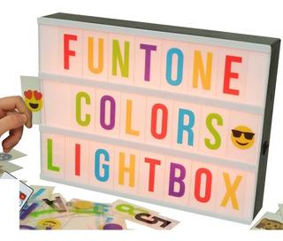 Cartel Luminoso Led - 85 Letras De Colores Emojis