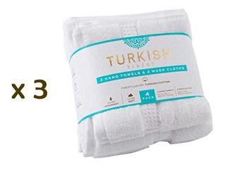 12 Toallas Faciales Y De Mano Turkish Finest Luxury Premium