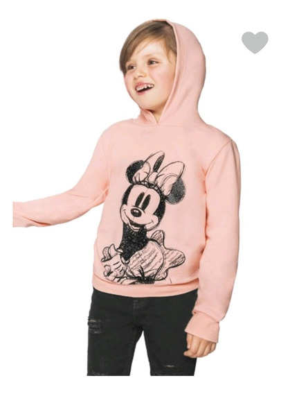 Sudadera Minnie Mouse Disney Manga Larga Rosa 1390919
