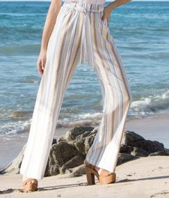 Pantalon Pierna Amplia Tipo Lino Stp10921