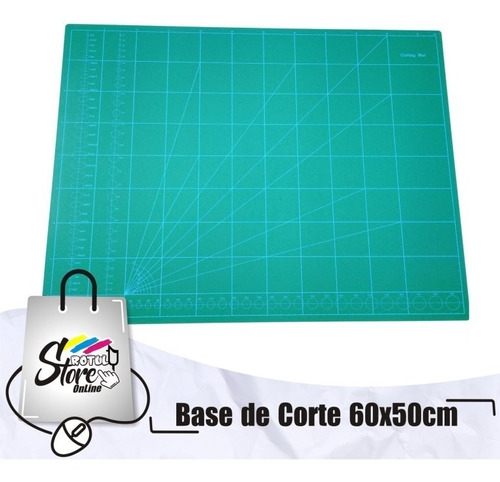 Imagen 1 de 2 de Mat De Corte, Base De Corte, Color Verde 60x50cm
