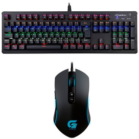 Kit Gamer Fortrek Com Teclado K5 Mecanico Rgb E Mouse Pro M7