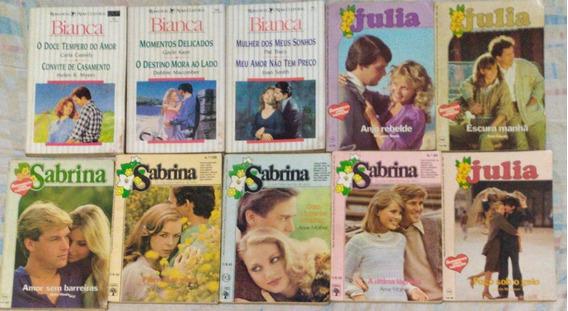 Lote 10 Livros Romances Sabrina, Julia -escolha Lote Ao Lado