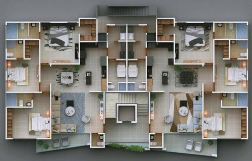 Imagen 1 de 14 de Apartamento En Venta En Planos En Villa Olga, Stgo Wpa59 A3