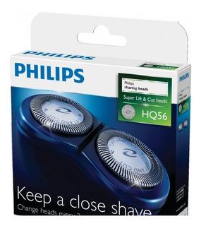 Conjunto Original De Lâminas Para Barbeador Philips Hq56