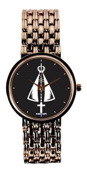 Relógio Feminino Cobre Nossa Senhora Aparecida 3330