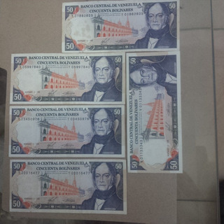 Vendo Billetes Venezolanos Antiguos 1988 De Bs 50.oferta