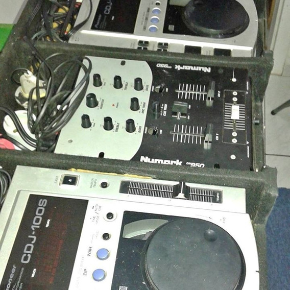 Par Cdj 100s Pioneer + Mixer Numark Dm950