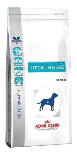 Ração Royal Canin Veterinary Diet Canine Hypoallergenic para cachorro adulto todos os tamanhos sabor mix em saco de 10.1kg