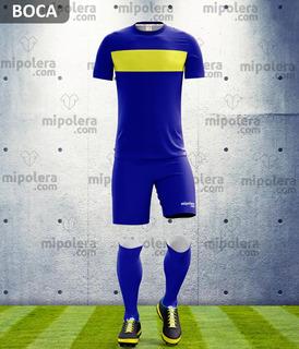 Equipo De Fútbol Personalizado Modelo Boca Mps Mipolera
