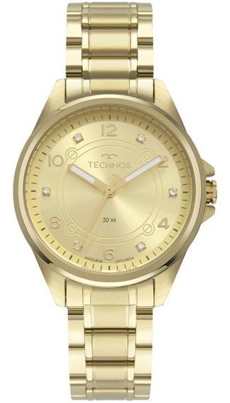 Relógio Feminino Technos Dourado Elegance 2035mrn/4x
