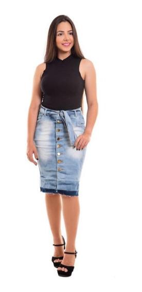 Saias Jeans Com Lycra Evangélicas Barato Combo Com 2