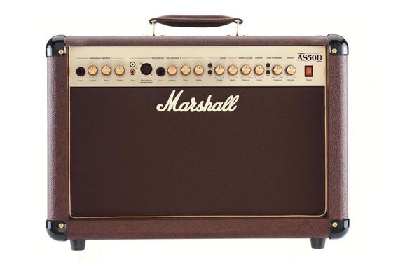 Amplificador Guitarra Acustica Marshall As50d 50w 2ch Marron
