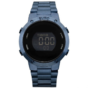 Relógio Euro Digital Azul Eubj3279ac/4a C Nf-e