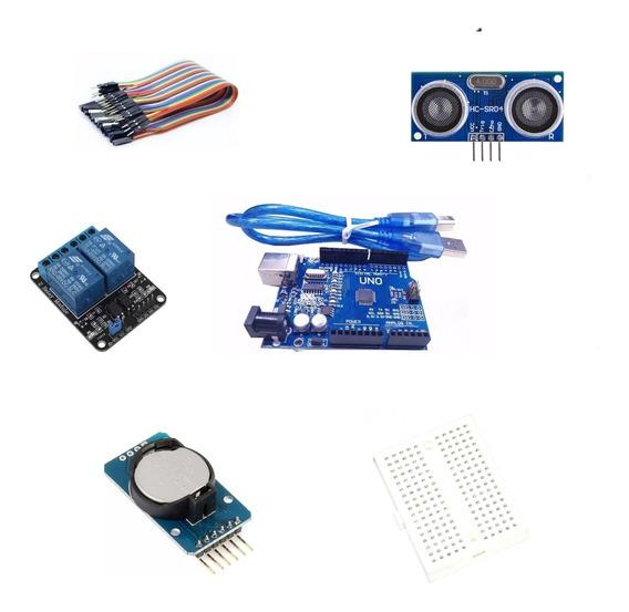 Kit Para Arduino Uno +sensor + Time Clock + Relé+ Cabos