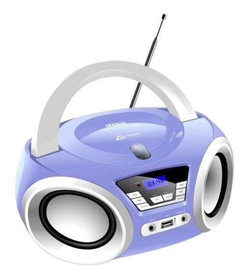 Rádio Portátil Lenoxx Boombox Bd121 5w Cd Usb Aux Bivolt