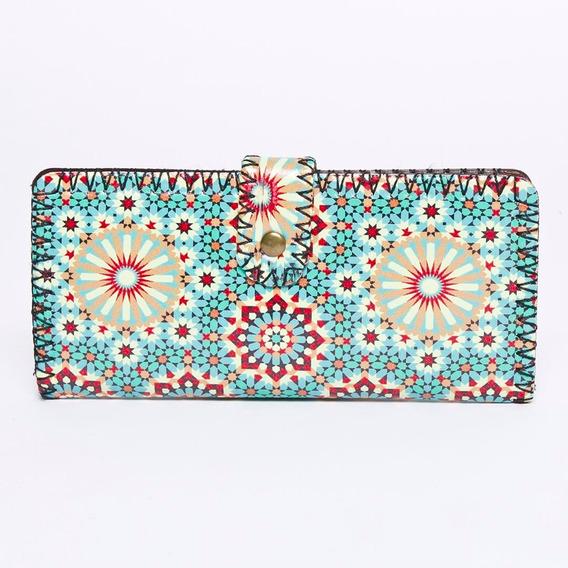 Billetera Mandalas Importadas Ecocuero Mujer #1021c