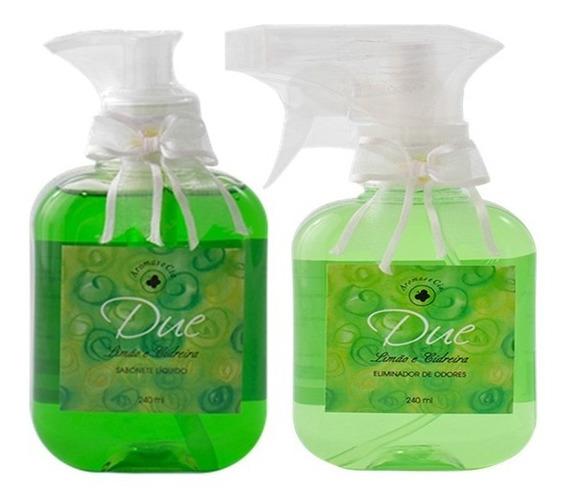 Kit Sabonete Liquido E Eliminador De Odores Limão E Cidreira