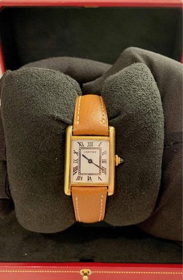 Cartier Tank Lady De Ouro Amarelo , Na Caixa , Imperdível !