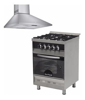 Combo Cocina Sol Real Visor + Campana Tst Pirami Cuot