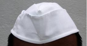 Gorro Cuartelera Para Cocina 100% Algodón Color Blanco