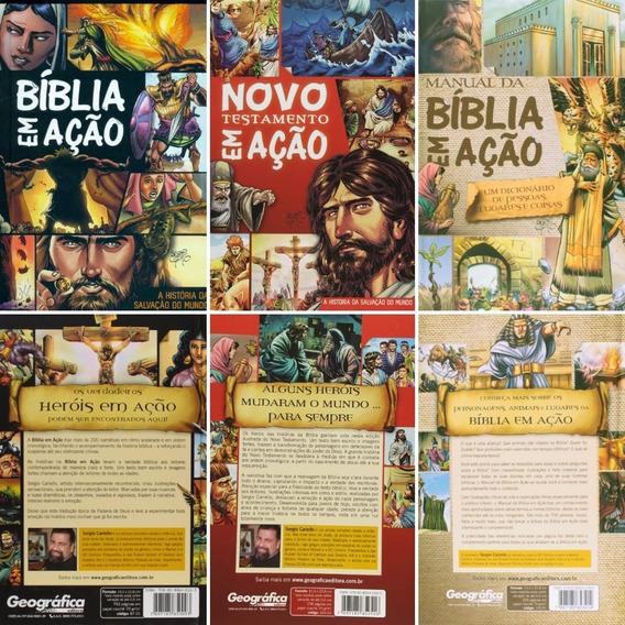 Coleção Bíblia Em Ação A História Da Salvação Do Mundo - Hqs