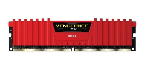 Memória Corsair Vengeance 16gb 2x8 2400mhz Ddr4 Cl14 Red
