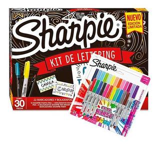 Sharpie Lettering 30 Piezas + 24 Marcadores Ultra Finos