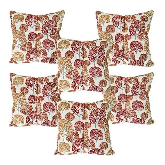 6 Cojines Decorativos Rojo Naranja Mostaza Amarillo 40 Salas