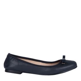 Nine West Zapato Ballerinas Flats Para Mujer Azul Marino